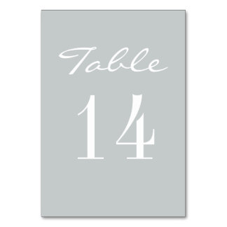 Chic Grey White Elegant Wedding Table Cards