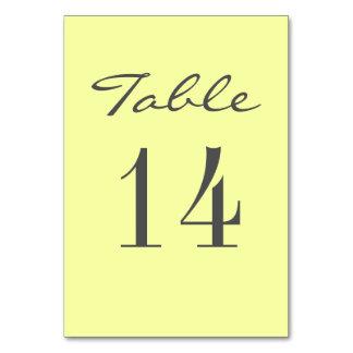 Chic Grey Yellow Elegant Wedding Table Card
