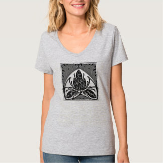 Chic_greyscale d'art déco t-shirts