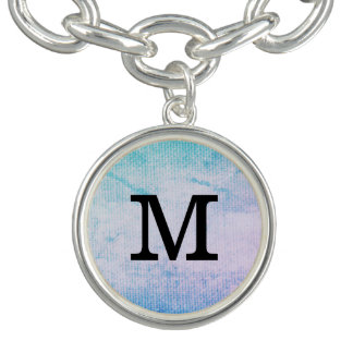 Chic Grunge with Monogram Charm Bracelets
