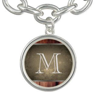 Chic Grunge Wood with Monogram 2 Bracelet