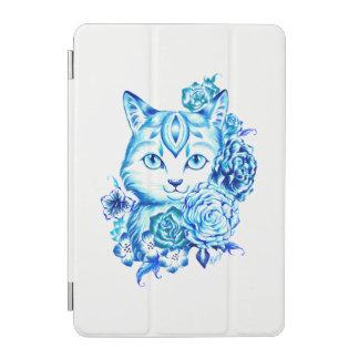 Chic Hand Drawn 10 Blues Cat iPad Mini Smart Cover iPad Mini Cover