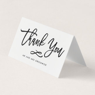 Chic Hand Lettered Thank You Card With Photo