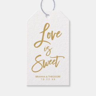Chic Hand Lettered Wedding Gif Tags Love Is Sweet