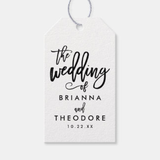 Chic Hand Lettered Wedding Gift Tag Pack Of Gift Tags