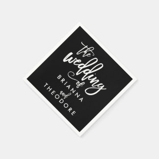 Chic Hand Lettered Wedding Napkins