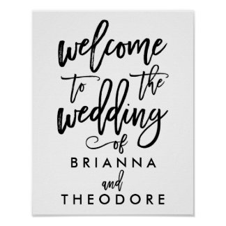 Wedding posters and signage
