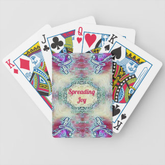 Chic Holiday Season Burgundy Spreading Joy Bicycle Playing Cards