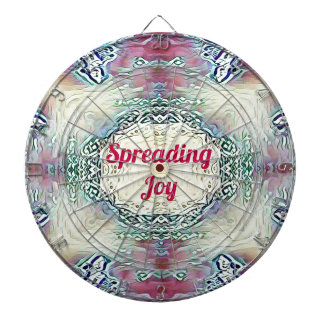 Chic Holiday Season Burgundy Spreading Joy Dartboard