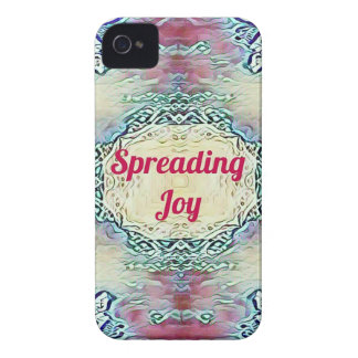 Chic Holiday Season Burgundy Spreading Joy iPhone 4 Case-Mate Case