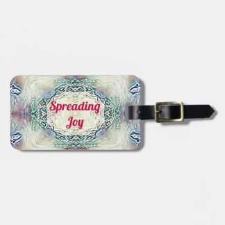 Chic Holiday Season Burgundy Spreading Joy Luggage Tag
