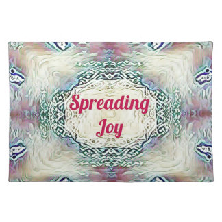 Chic Holiday Season Burgundy Spreading Joy Placemat