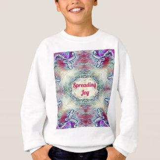 Chic Holiday Season Burgundy Spreading Joy Sweatshirt