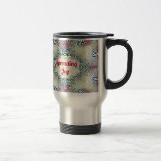 Chic Holiday Season Burgundy Spreading Joy Travel Mug