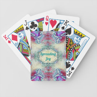 Chic Holiday Season Green 'Spreading Joy' Bicycle Playing Cards