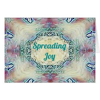 Chic Holiday Season Green 'Spreading Joy' Card