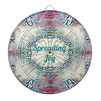 Chic Holiday Season Green 'Spreading Joy' Dartboard