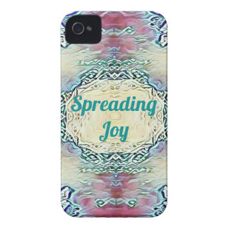 Chic Holiday Season Green 'Spreading Joy' iPhone 4 Case-Mate Cases