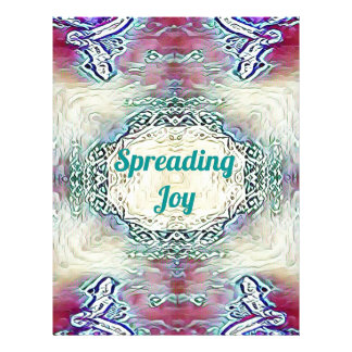 Chic Holiday Season Green 'Spreading Joy' Letterhead