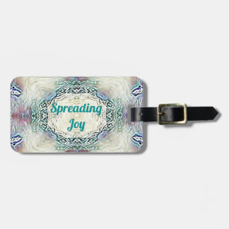Chic Holiday Season Green 'Spreading Joy' Luggage Tag
