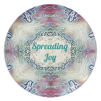 Chic Holiday Season Green 'Spreading Joy' Plate