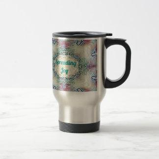 Chic Holiday Season Green 'Spreading Joy' Travel Mug