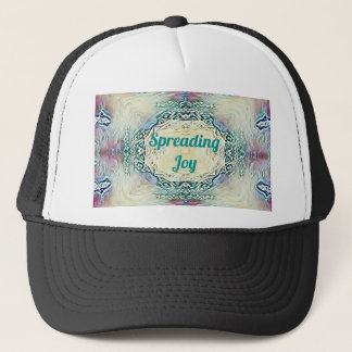 Chic Holiday Season Green 'Spreading Joy' Trucker Hat