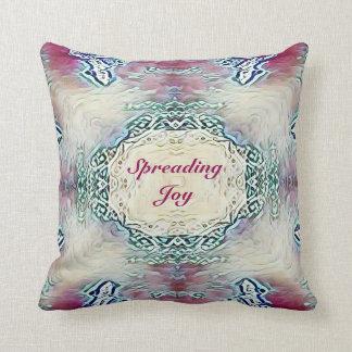 Chic Holiday Season Reversibile 'Spreading Joy' Throw Pillow