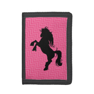 Chic Hot Pink Chevron Horse Wallet