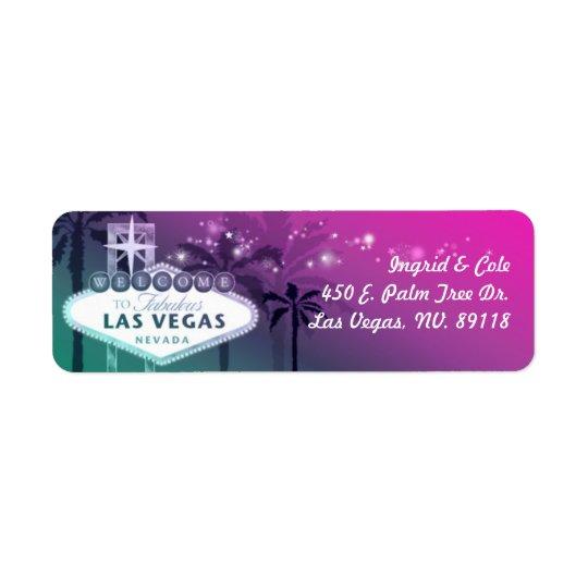Chic Hot Pink Las Vegas Wedding