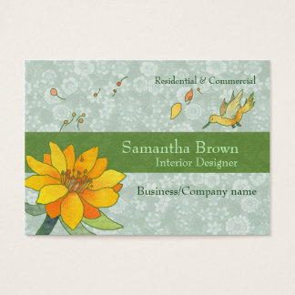 Chic Hummingbird Home Interiors Business Cards