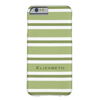 CHIC IPHONE6 CASE_GREEN/GREEN/WHITE STRIPES #2 BARELY THERE iPhone 6 CASE