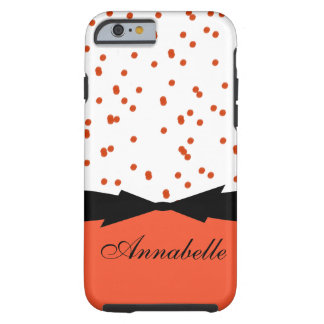 CHIC IPHONE 6 CASE_GIRLY FLAME  DOTS TOUGH iPhone 6 CASE