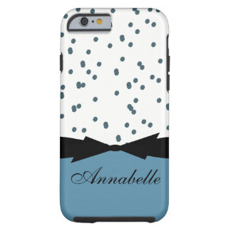 CHIC IPHONE 6 CASE_GIRLY NIAGARA BLUE DOTS TOUGH iPhone 6 CASE