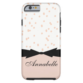 CHIC IPHONE 6 CASE_GIRLY PALE DOGWOOD DOTS TOUGH iPhone 6 CASE