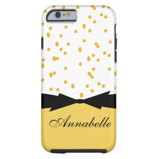 CHIC IPHONE 6 CASE_GIRLY PRIMROSE YELLOW DOTS TOUGH iPhone 6 CASE