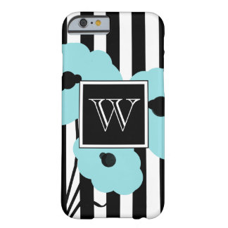 CHIC IPHONE 6 CASE_MOD AQUA POPPIES BARELY THERE iPhone 6 CASE