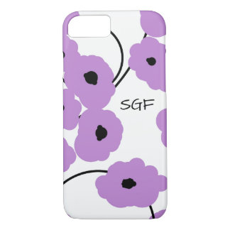 CHIC IPHONE 6 CASE_MOD LAVENDER & BLACK POPPIES iPhone 8/7 CASE