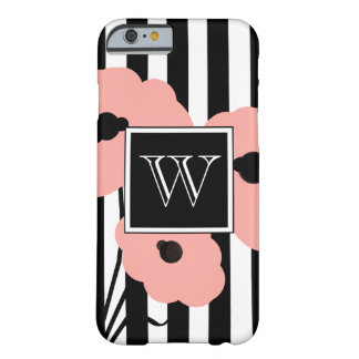 CHIC IPHONE 6 CASE_MOD PALE PEACH POPPIES BARELY THERE iPhone 6 CASE