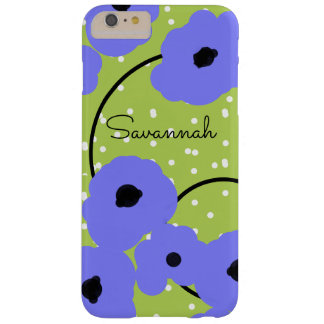 CHIC IPHONE 6 CASE_MOD SOFT PERIWINKLE POPPIES BARELY THERE iPhone 6 PLUS CASE