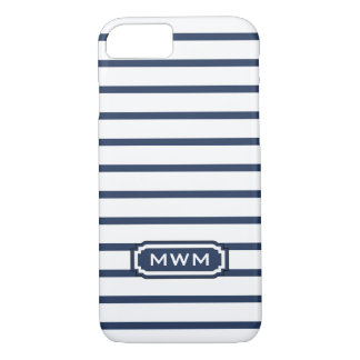 CHIC iPhone 7 CASE_436 NAVY/WHITE STRIPES iPhone 8/7 Case