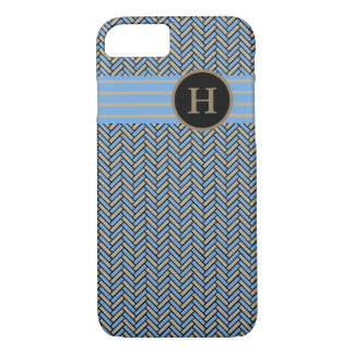 CHIC iPhone 7 CASE_CAMEL/BLUE/BLACK HERRINGBONE iPhone 7 Case