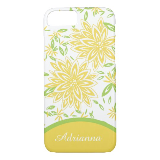CHIC iPhone 7 CASE_LOVELY YELLOW FLORAL iPhone 8/7 Case