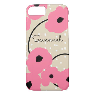 CHIC IPHONE 7 CASE_MOD 241  PINK POPPIES_DIY iPhone 8/7 CASE