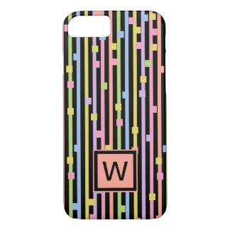 CHIC iPhone 7 CASE_PASTEL STRIPES & CONFETTI iPhone 7 Case