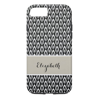 CHIC IPHONE CASE_MODERN FLAME_WHITE ON BLACK iPhone 7 CASE