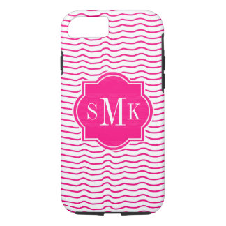 CHIC IPHONE CASE_MODERN WAVY PINK STRIPES iPhone 7 CASE