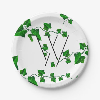 Chic Ivy Your Initial Paper Plate