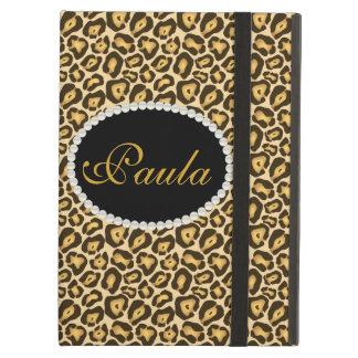 Chic Jaguar Print Monogram Ipad Case