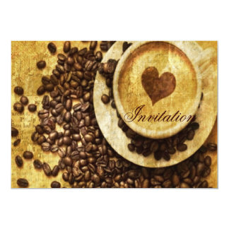 Chic Java cappuccino Coffee Beans Coffee Lover Card